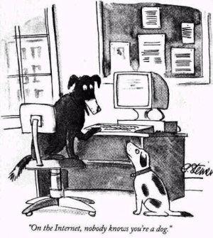"""漫画""""在互联网上没人知道你是一条狗"""""""