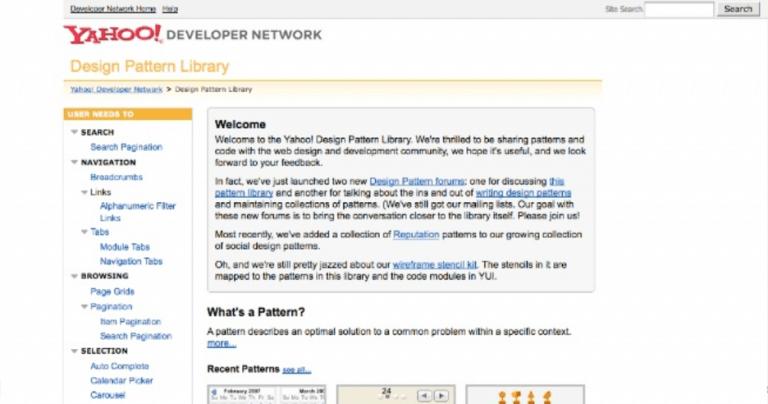 Yahoo Design Pattern Library