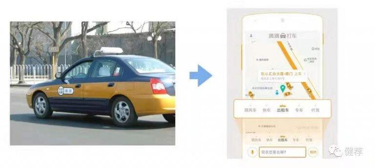 滴滴将物理世界的出租车映射到了数字世界
