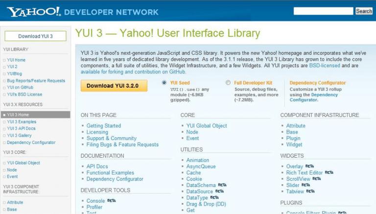 Yahoo UI Library